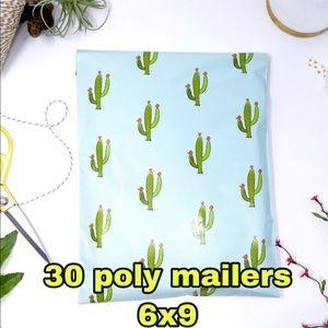 4x$20 //30 poly mailers cactus 🌵 print 6x9